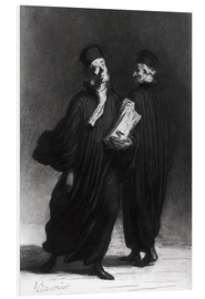 Foam board print  Two Lawyers - Honoré Daumier