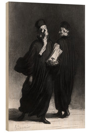 Wood print  Two Lawyers - Honoré Daumier