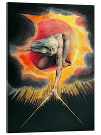 Acrylic print  The Ancient of Days - William Blake
