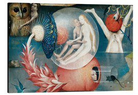Aluminium print  Garden of earthly delights, mankind before the Flood (detail) - Hieronymus Bosch
