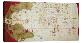 Canvas print  Mappa Mundi around 1500 - Juan de la Cosa