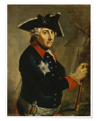Premium poster Frederick the Great of Prussia