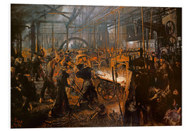 Foam board print  The Iron-Rolling Mill - Adolph von Menzel