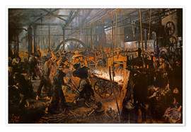 Premium poster The Iron-Rolling Mill