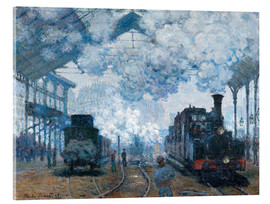 Acrylic print  The Station, St-Lazare - Claude Monet