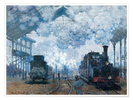 Premium poster  The Station, St-Lazare - Claude Monet