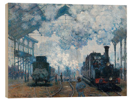 Wood print  The Station, St-Lazare - Claude Monet