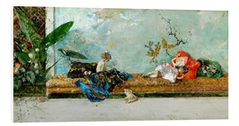 Foam board print  The Painter's Children in the Japanese Salon - Mariano Fortuny y Marsal