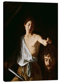 Canvas  David with the Head of Goliath - Michelangelo Merisi (Caravaggio)
