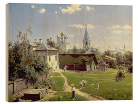 Wood  A Small Yard in Moscow - Vasilij Dmitrievich Polenov