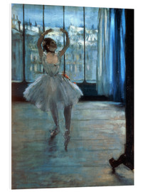 Foam board print  Dancer in Front of a Window - Edgar Degas