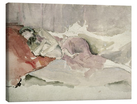 Canvas print  Mother and child on a sofa - James Abbott McNeill Whistler