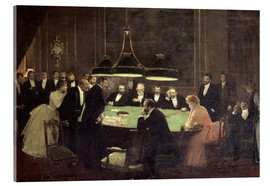 Acrylic print  The Gaming Room at the Casino - Jean Beraud