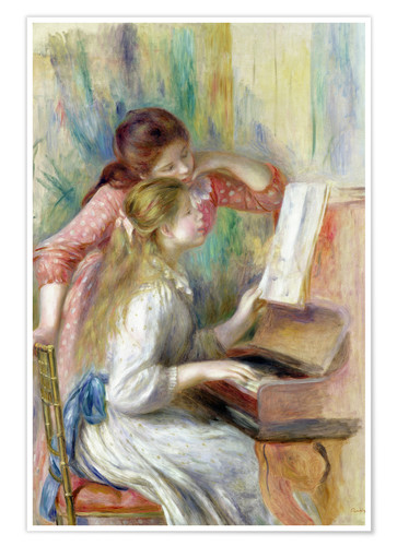 Premium poster Young Girls at the Piano