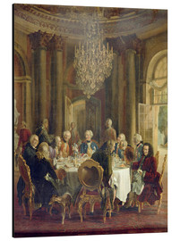 Aluminium print  Dinner Table at Sanssouci - Adolph von Menzel
