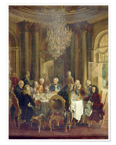Premium poster Dinner Table at Sanssouci