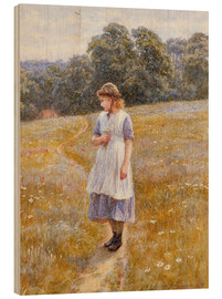 Wood print  Daydreamer - Helen Allingham