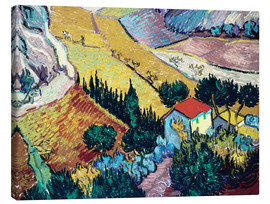 Canvas print  Landscape with House and Ploughman - Vincent van Gogh