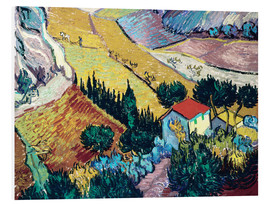 Forex  Landscape with House and Ploughman - Vincent van Gogh