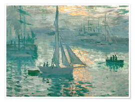 Premium poster  Sunrise - Claude Monet