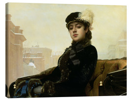 Canvas print  Portrait of an Unknown Woman - Ivan Nikolaevich Kramskoy