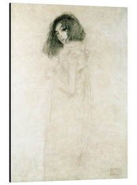 Aluminium print  Portrait of a young woman - Gustav Klimt