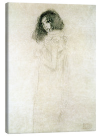 Canvas print  Portrait of a young woman - Gustav Klimt