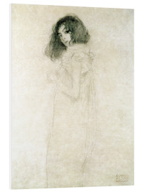 Foam board print  Portrait of a young woman - Gustav Klimt