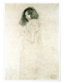 Poster  Portrait of a young woman - Gustav Klimt