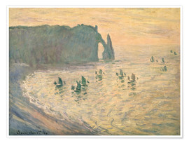 Premium poster  Cliffs at Etretat - Claude Monet