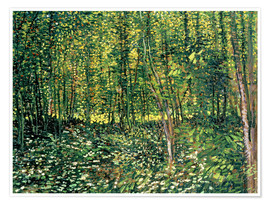 Premium poster  Trees and Undergrowth - Vincent van Gogh