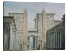 Canvas print  The Entrance to the Temple - German School