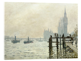 Acrylic glass  The Thames below Westminster - Claude Monet