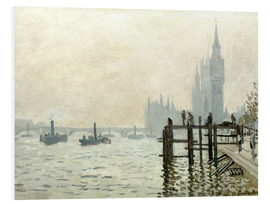 Foam board print  The Thames below Westminster - Claude Monet