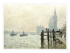 Premium poster  The Thames below Westminster - Claude Monet