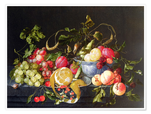 Premium poster A still life with fruits