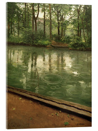 Acrylic print  The Yerres in the rain - Gustave Caillebotte
