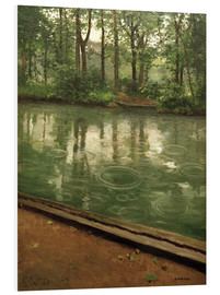 Foam board print  The Yerres in the rain - Gustave Caillebotte