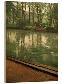 Wood print  The Yerres in the rain - Gustave Caillebotte