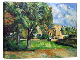 Canvas print  Chestnut trees an farm - Paul Cézanne