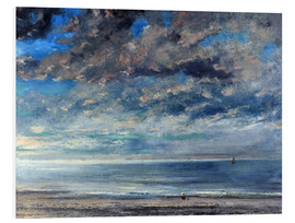 Foam board print  Beach at sunset - Gustave Courbet
