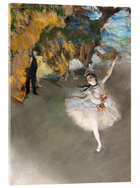 Acrylic print  The Star - Edgar Degas