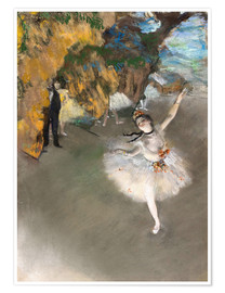 Premium poster  The Star - Edgar Degas