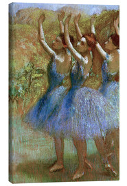 Canvas print  Three dancers in blue - Edgar Degas