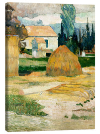 Canvas print  Farm House in Arles - Paul Gauguin