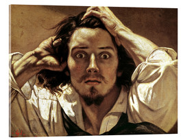 Acrylic print  The Desperate, Gustave Courbet - Gustave Courbet