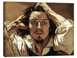 Canvas  Selfportrait Gustave Courbet, the Desperate - Gustave Courbet