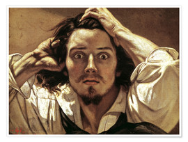 Premium poster  The Desperate, Gustave Courbet - Gustave Courbet