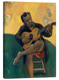 Canvas  The Guitar Player - Paul Gauguin