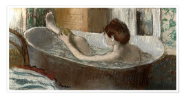 Premium poster  Woman washing her leg - Edgar Degas